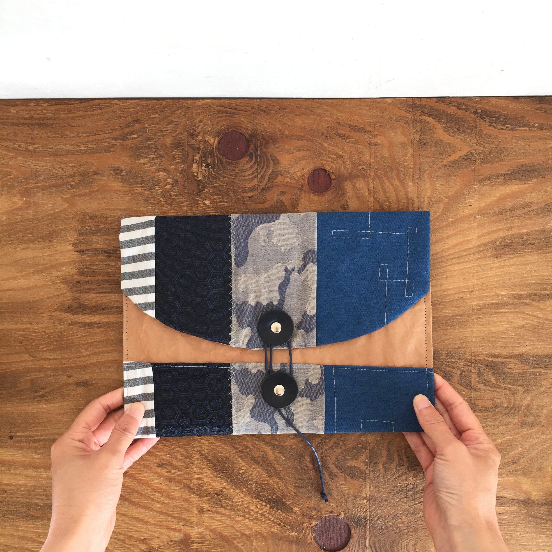 ノチホド軽くて丈夫/持ち歩きたくなる米袋のマルチポーチ(M)/ブルー
